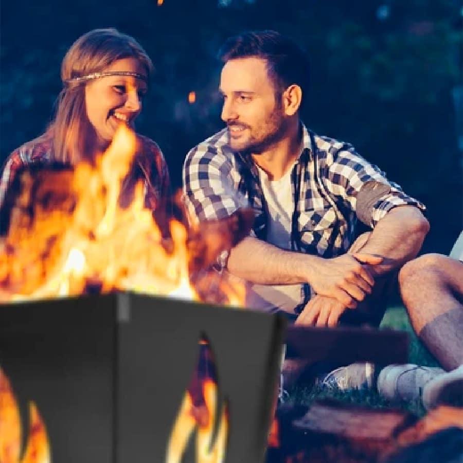 Romantic fire pit date