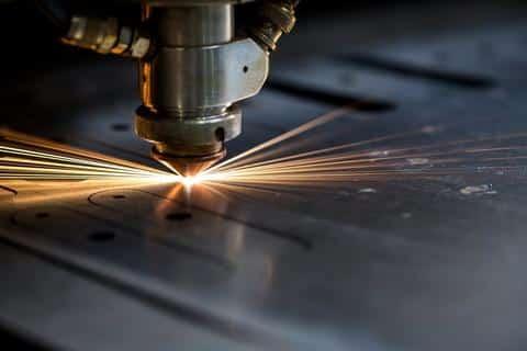 photo of laser cutting machine