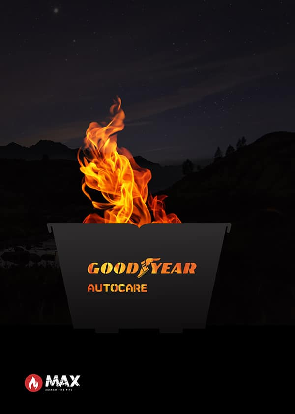custom company fire pit for GoodYear tyre company